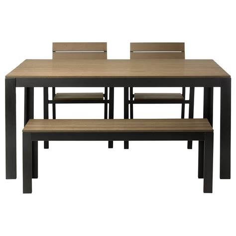 Ikea Outdoor Dining Table Outdoor Dining Furniture Chairs Sets Ikea Falster Table 2 And Bench Brown Black Loversiq