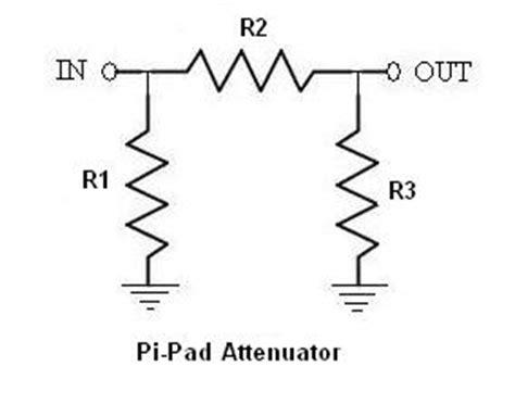 50 ohm attenuator resistor values t attenuator pad pi attenuator pad difference between t vs pi pads
