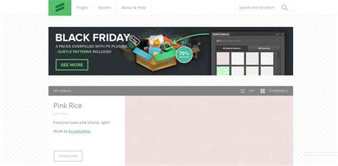 subtle patterns photoshop plugin download list of 18 web design tools to help you build websites