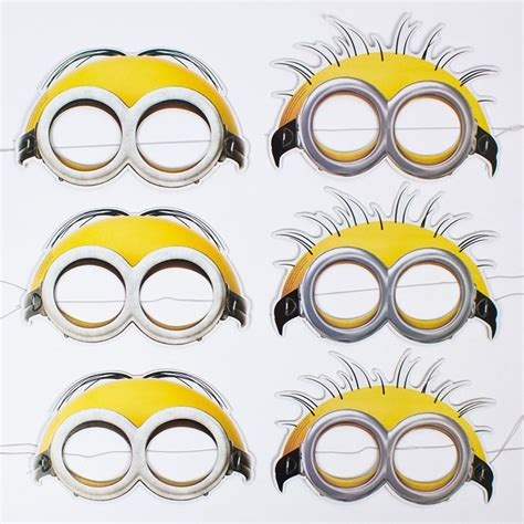 minion mask template minion masks pack of 6 only 163 2 29