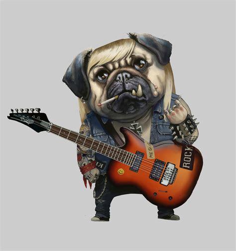 rock pug commission pug em all by sarmati on deviantart