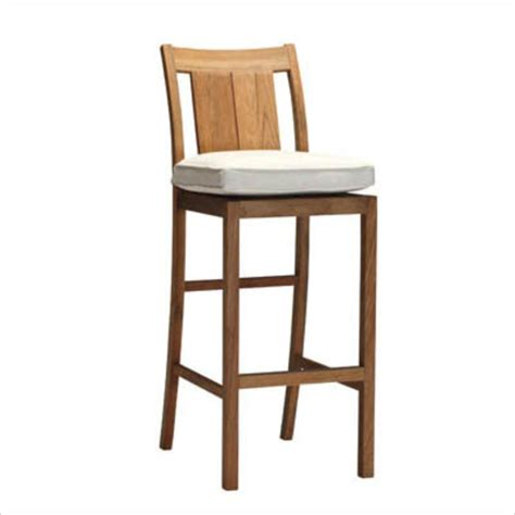 teak bar stools croquet teak outdoor bar stool