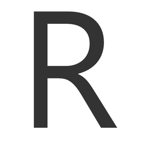 small r small letter r of orange icon free icons