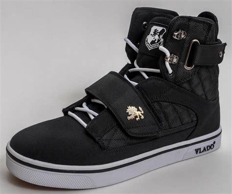 vlado shoes vlado footwear s atlas ii 2 black white hi top sneaker