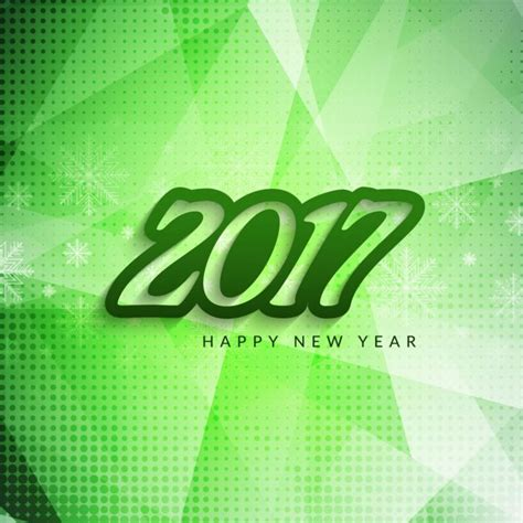 new year green green new year 2017 geometric background vector free
