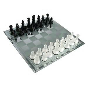 chess set black and frosted glass chess set from chess usa