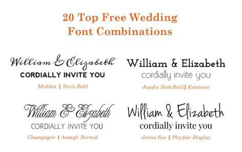 20 Popular Free Google Wedding Font Combinations   wedding