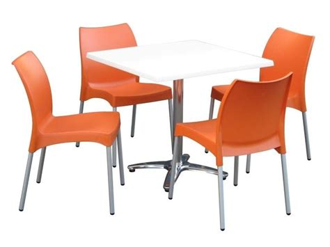 Cafeteria Tables And Chairs by How To Match Your Cafe Chairs To Your Table Base Caf 233