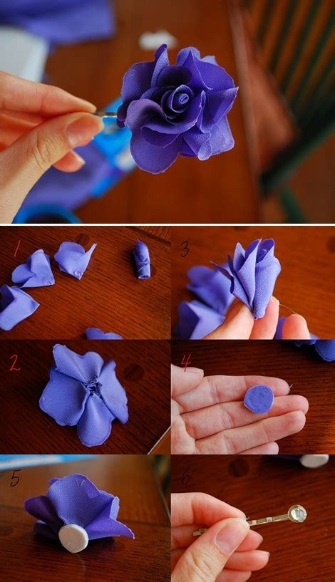How To Make Handmade Hair - inspirations by d diy fabric flower hair pin