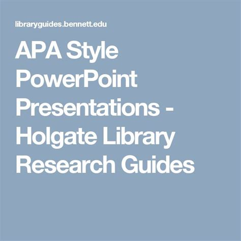 apa formatting and style guide powerpoint 49 best apa style images on pinterest apa style writing