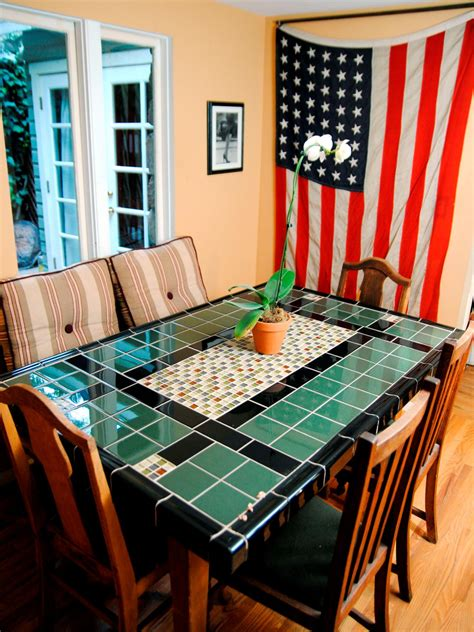 ceramic tile table top create a mosaic tile tabletop hgtv