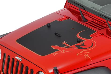 jeep hood decals mopar 68139718ab quot lizard quot hood decal for 07 12 jeep