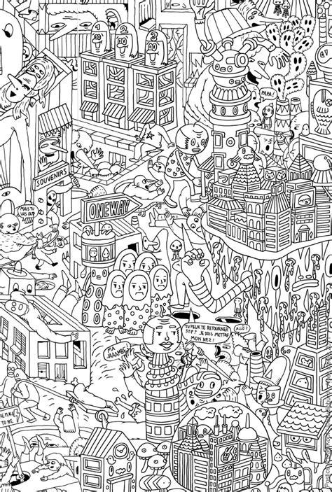 city background coloring page coloriage adulte difficile les beaux dessins de