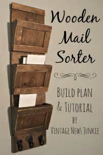 Wooden Home Decor Items Get Organized Diy Wood Mail Sorter Plans And Tutorial Fox Hollow Cottage