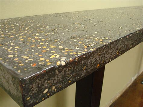 Exposed Aggregate Concrete Countertop by Exposed Aggregate Countertop Black Eastgate Ccf Cafe