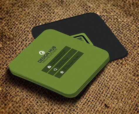 square card templates mini square business card psd templates design graphic