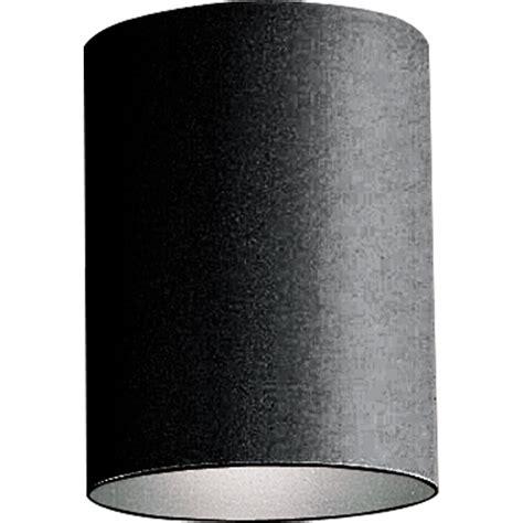 Cylinder Light Fixtures Progress Lighting P5774 31 Black Cylinder 1 Light Flush Mount Outdoor Ceiling Fixture 5 Quot Wide