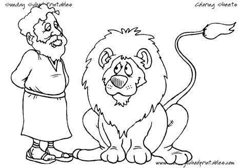 daniel in the lions den coloring pages