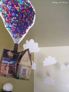 disney printable up house with balloons disney pixar s up 3d printable house party by maudedesigns