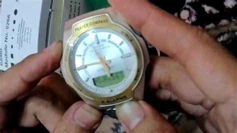 Jam Casio Dengan Kompas Kiblat jam casio kiblat setting hijrah date