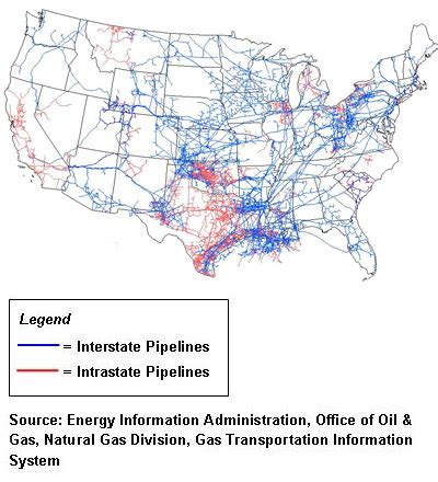 how do us natural gas pipelines move gas to markets? | rigzone