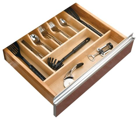 Kitchen Drawer Organizer Rev A Shelf Cutlery Tray Insert Transitional