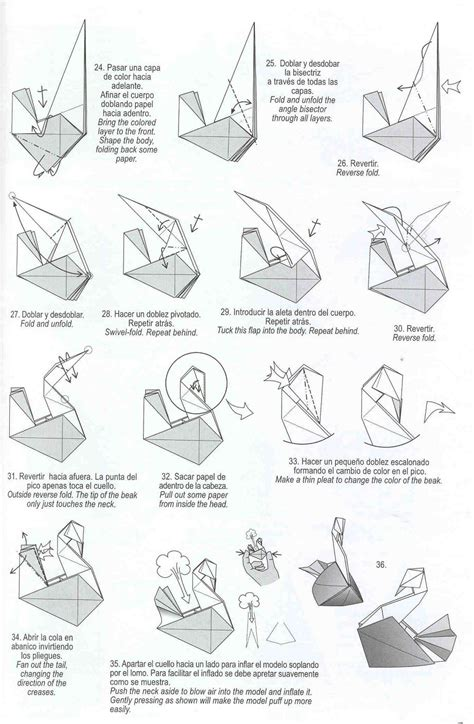 Origami Swan Pdf - origami make origami bird steps how to make paper parrot