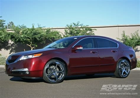acura tl chrome wheels 2009 acura tl with 20 quot giovanna dalar 5 in chrome wheels