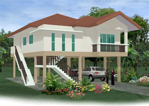 stilt house plan modern house
