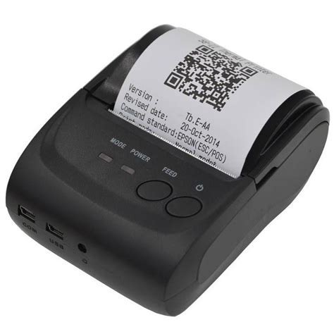 Printer Bluetooth Surabaya zjiang printer resep thermal bluetooth zj 5802 black