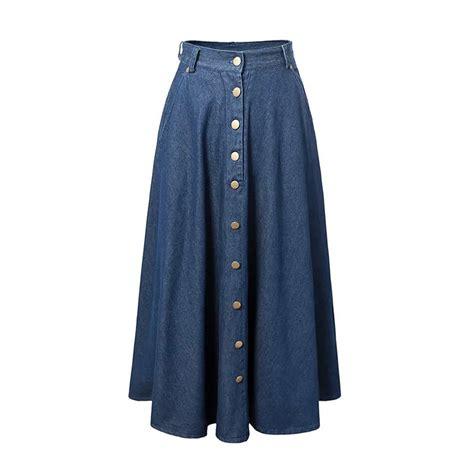 popular ankle length denim skirts buy cheap ankle length