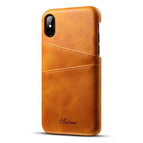 Slim Leather Iphone And Samsung slim pu genious leather for iphone x cases back cover protective card holder wallet mobile