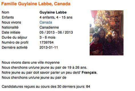Lettre De Presentation Fille Au Pair S 233 Jour Au Pair Au Canada