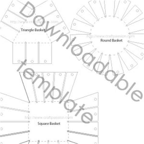 7 best images of free printable basket patterns free