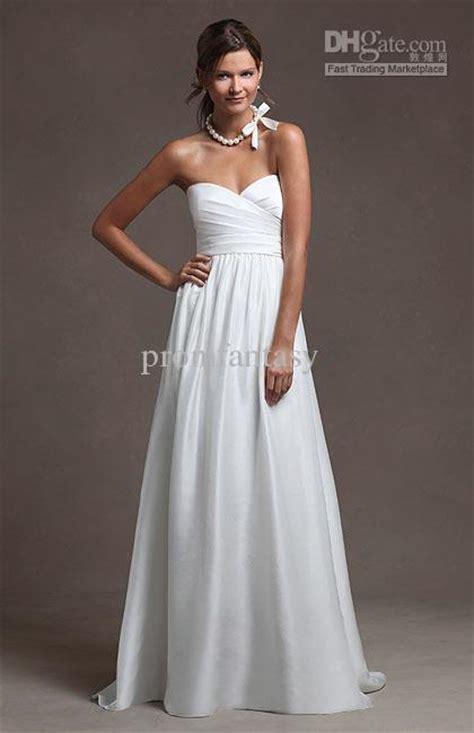 Inner Silk Outer Organza Dress White Import Fashion Gaun Belt Sabuk discount 2016 custom made simple wedding dresses casual sash sweetheart neckline satin