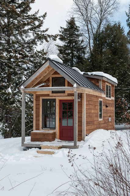 Small Homes Houzz Tiny House Rustic Exterior Burlington By Cushman