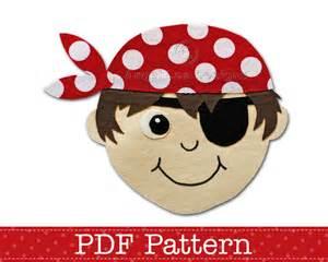 pirate template pirate applique template pdf applique pattern by