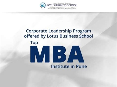 Icici Business Leadership Programme Mba by Corporate Leadership Program Lotus Business School