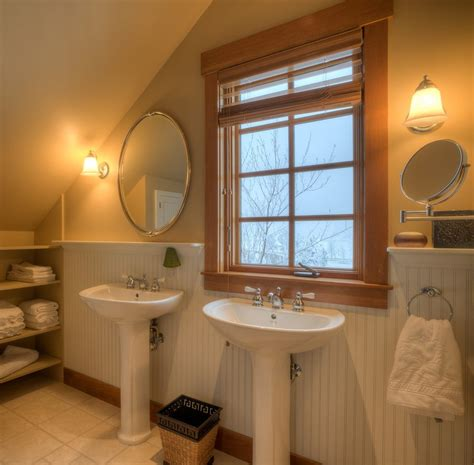 installing bathroom mirror installing beadboard wainscoting bathroom traditional with