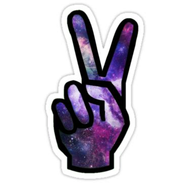 Blouse Big Transaparan Bl 64 quot peace sign galaxy quot stickers by bluewalldesigns redbubble