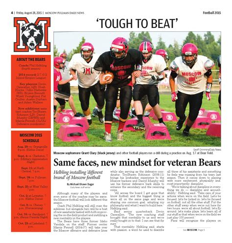 Moscow Pullman Daily News Records 2015 High School Football Preview By Moscow Pullman Daily News Issuu