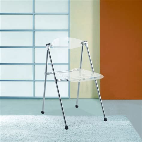 acrylic folding chairs set of 2 chairs armchairs and stools acrylic folding chair set