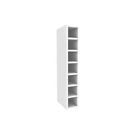 Cooke Lewis White Wine Rack Tall Wall Cabinet W 150mm Departments Diy At B Q Wine Rack Template