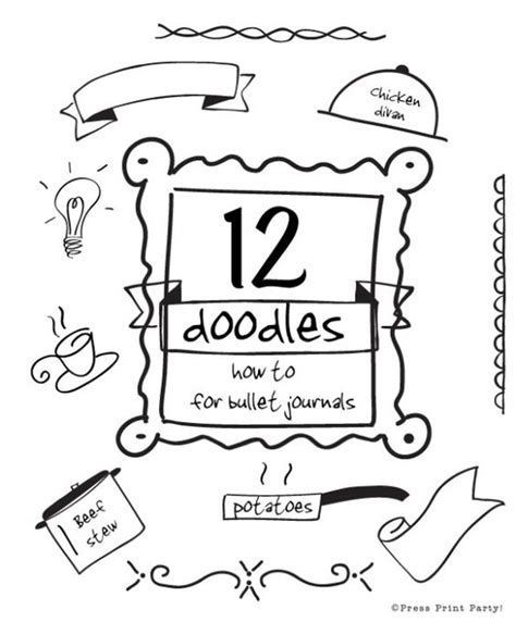 doodle or sign up genius 12 doodles how to for bullet journals bullets