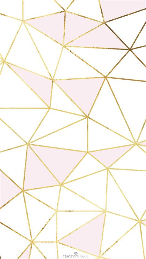 gold pattern iphone wallpaper pink gold white geometric mosaic iphone phone wallpaper