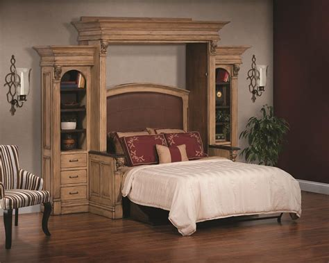 amish serenity wall bed  desk  side storage