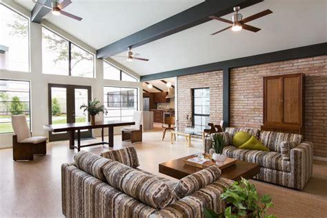 midcentury living room before after midcentury modern living room makeover