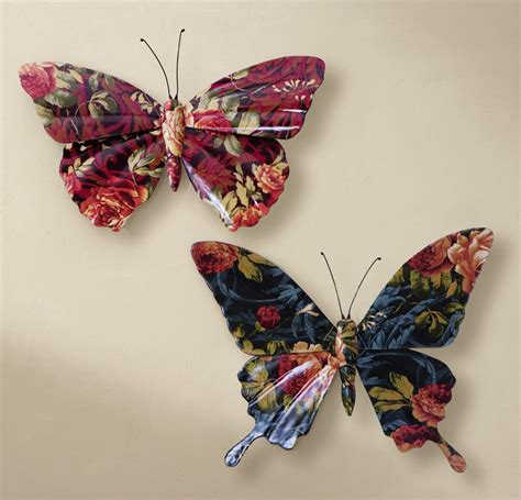 decorative floral accents wall ornament decoration for floral butterfly 3d wall decor art ebay
