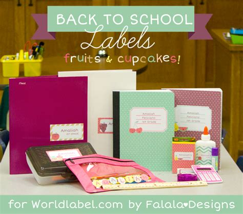 school supplies design template free kids labels worldlabel blog