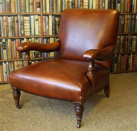 Library Chair by Edwardian Leather Library Chair Leather Club Chair Leather